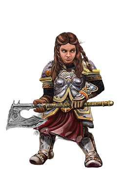 Dwarf Female Character Portrait