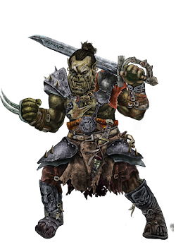 Orc Male Character Portrait